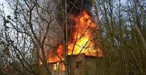 Požár ve Sloupu v Čechách