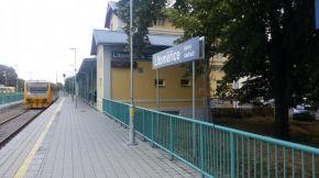 Budova horního nádraží v Litoměřicích