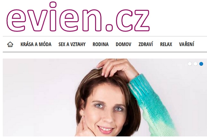 Homepage Evien.cz