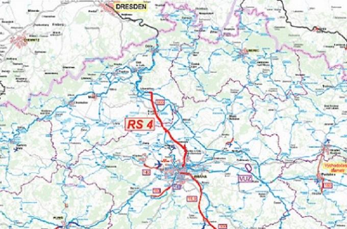 Mapa s plánovanou trasou Praha - Litoměřice. Zdroj: www.railvolution.net/czechraildays