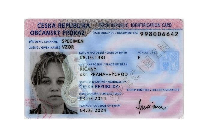 Občanský průkaz. Foto: MVČR