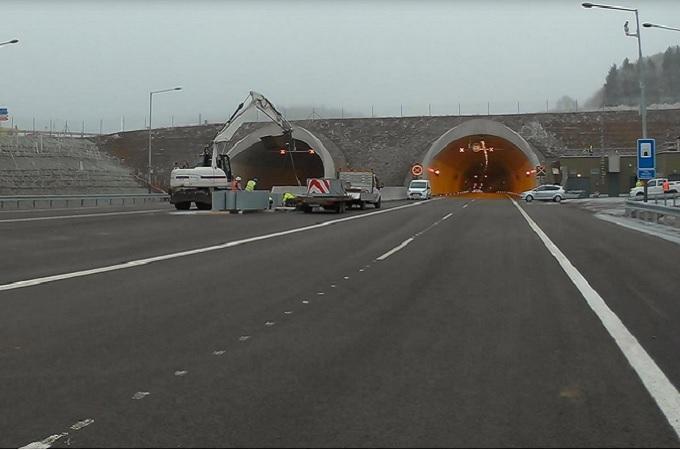 Pohled na portál tunelu Radejčín. Foto: archiv Ministerstvo dopravy
