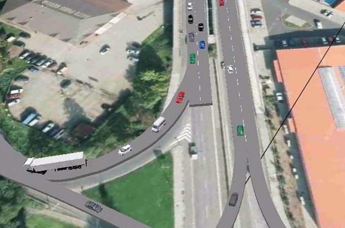 Vizualizace dopravních opatření. Reprofoto: YouTube/Město Děčín