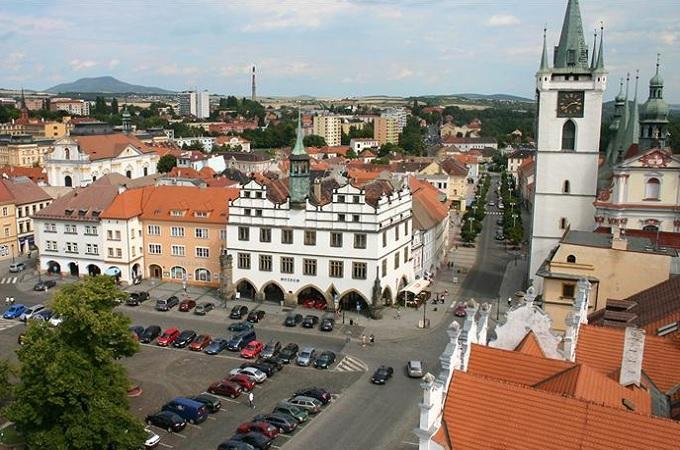 Pohled na Mírové náměstí v Litoměřicích. Foto: archiv Muzeum Litoměřice