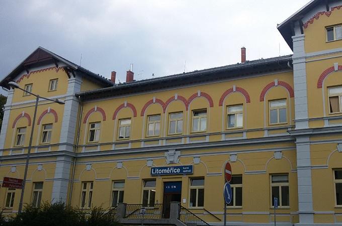 Budova horního nádraží v Litoměřicích. Foto: archiv MojeLitoměřicko.cz