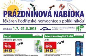 Prázdninová nabídka lékáren Podřipské nemocnice trvá až do konce srpna 2018