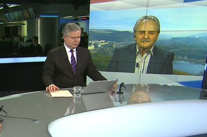 Ladislav Chlupáč v ČT24. Reprofoto: Česká televize