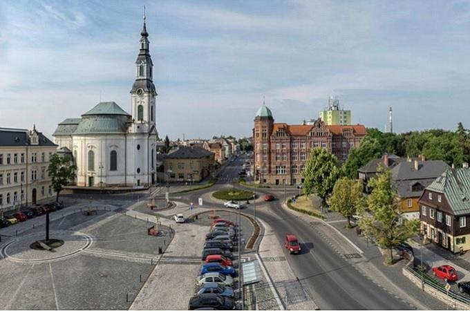 Pohled na centrum Nového Boru, ilustrační foto. Foto: archiv Město Nový Bor