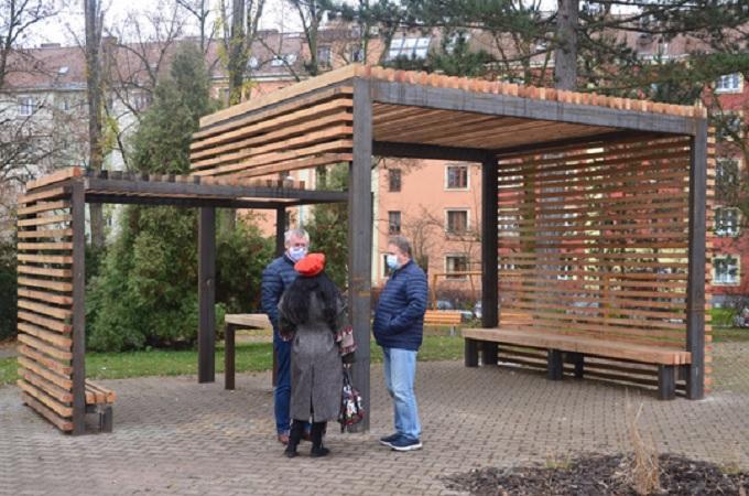 Pergola ve Vrchlického sadech v Ústí nad Labem. Foto: Magistrát města Ústí nad Labem
